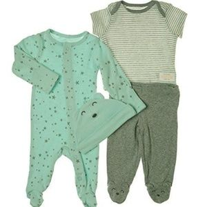 Carters Baby Boys 4 Piece Layette Set Baby Blue